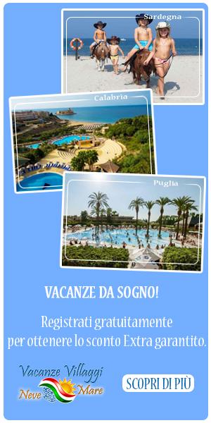 Registrazione nuovo utente Vacanze Villaggi Mare